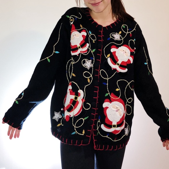 Holiday Editions Sweaters Button Up Ugly Christmas Sweater Poshmark
